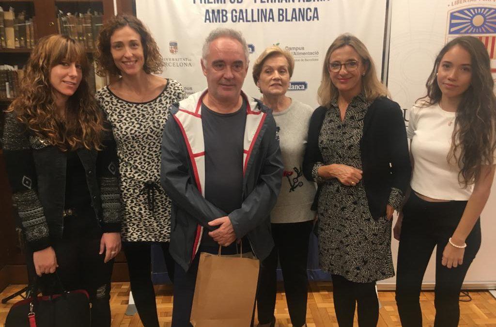 An Agrotecnio tutorized project won the UB Ferran Adrià award
